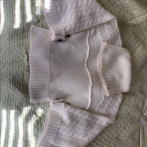 MODA international chunky cream colored sweater